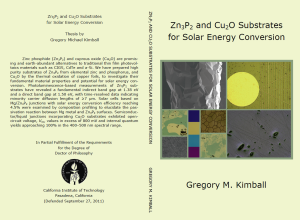 Zn3P2 and Cu2O Substrates for Solar Energy Conversion (GMKimball) cover